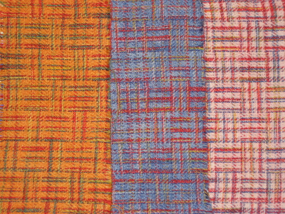 8 shaft handwoven Dye-Lishus® cotton dyed after weaving