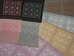 samples of 8 shaft handwoven Dye-Lishus® cotton dyed after weaving