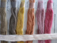 Dye-Lishus® cotton sliver dyed with natural dyes