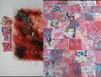 Dye-Lishus® cotton snow dyed with Kool-aid before & after